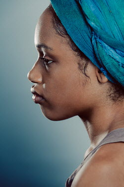 Magdalena Russocka close up of african woman with headwrap