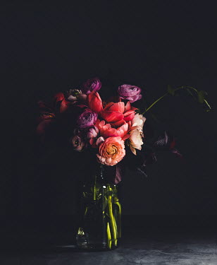 Isabelle Lafrance BOUQUET OF PEONIES IN SHADOW