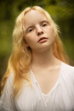 Alexandra Bochkareva YOUNG SERIOUS BLONDE GIRL OUTDOORS