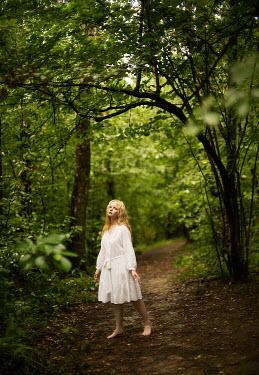 Alexandra Bochkareva SERIOUS BLONDE GIRL ON COUNTRY PATH