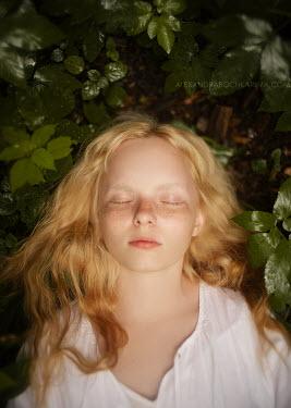 Alexandra Bochkareva YOUNG BLONDE GIRL SLEEPING OUTDOORS