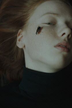 Daria Amaranth GIRL WITH RED HAIR AND BEETLE ON CHEEK