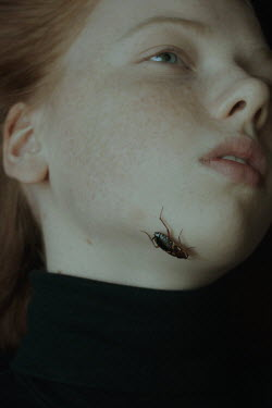 Daria Amaranth GIRL WITH RED HAIR AND BEETLE ON CHIN