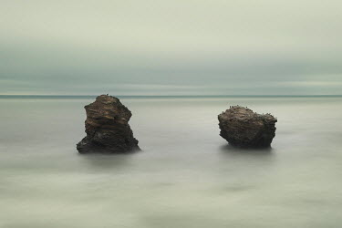 Christine Amat TWO ROCKS IN CALM SEA