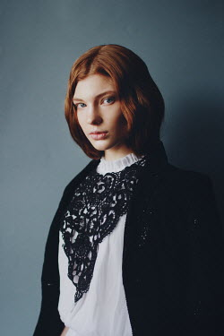Irina Orwald GIRL WITH RED HAIR AND LACE COLLAR