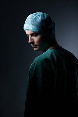 Magdalena Russocka male surgeon wearing scrub suit