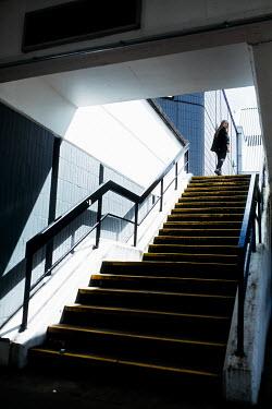 Shelley Richmond BLONDE GIRL WALKING BY STEPS IN CITY