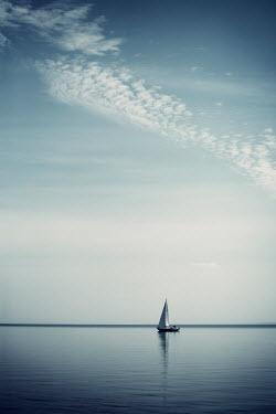Carmen Spitznagel BOAT SAILING ON CALM SEA