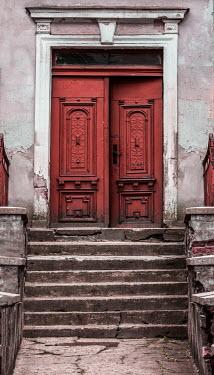 Jaroslaw Blaminsky DOOR AJAR IN OLD WEATHERED HOUSE
