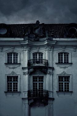 Jaroslaw Blaminsky EXTERIOR OF GRAND WHITE BUILDING AT DUSK
