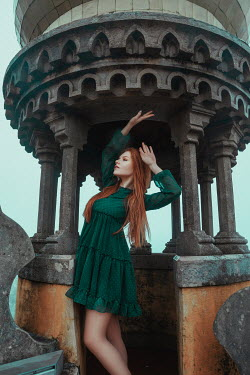 Katerina Klio WOMAN WITH RED HAIR IN ORNATE TOWER