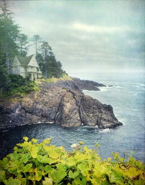 Jill Battaglia HOUSE ON CLIFFS BY SEA