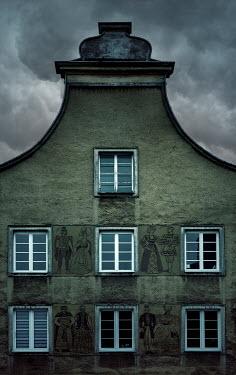 Jaroslaw Blaminsky EXTERIOR OF OLD BUILDING WITH MURALS