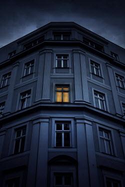 Jaroslaw Blaminsky LIGHT SHINING IN WINDOW OF HISTORICAL BUILDING