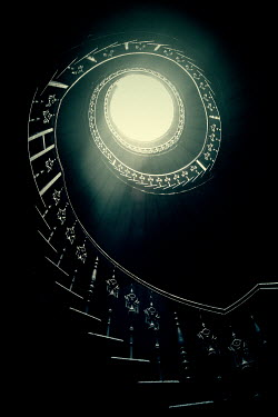 Joanna Jankowska SPIRAL STAIRCASE IN SHADOW FROM BELOW