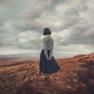Michael Vincent Manalo LITLLE GIRL WITH DARK HAIR ON MOORLAND