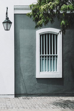 Evelina Kremsdorf WINDOW IN HOUSE WITH LANTERN AND TREE