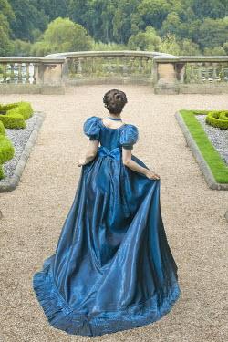 Lee Avison anonymous brunette regency woman in the garden