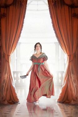 Lee Avison regency woman walking towards camera