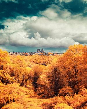 David Keochkerian GOLDEN TREES WITH DISTANT CITY