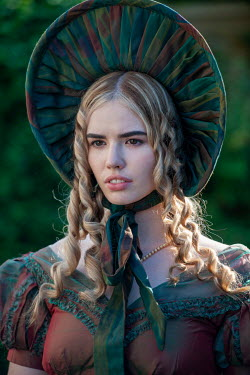 Lee Avison blond regency woman with a serious expression