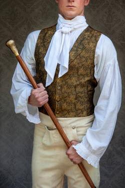 Lee Avison regency man mid section with cane