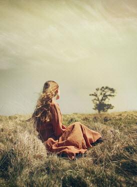 Mark Owen GIRL SITTING IN COUNTRYSIDE WATCHING TREE