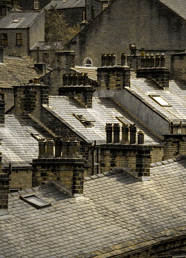 Victor Habbick ROOFTOPS AND CHIMNEYS OF OLD HOUSES