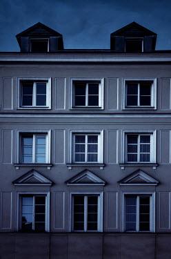 Jaroslaw Blaminsky LARGE HISTORICAL BUILDING AT DUSK