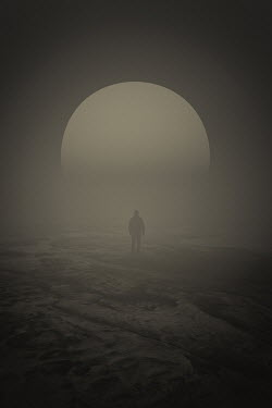 Andrei Cosma MAN STANDING IN MISTY DESERT