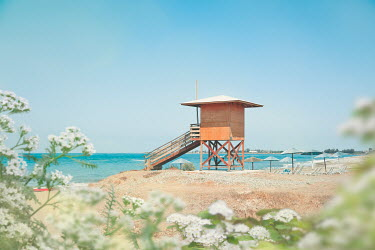 Evelina Kremsdorf COASTGUARD HUT ON BEACH IN SUMMER