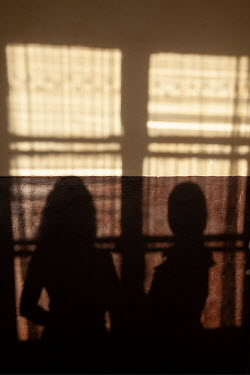 Kerstin Marinov SHADOWS OF TWO YOUNG GIRLS AT WINDOW
