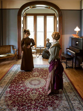 Elisabeth Ansley THREE HISTORICAL WOMEN INSIDE HOUSE