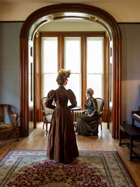 Elisabeth Ansley TWO HISTORICAL WOMEN INSIDE HOUSE