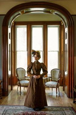 Elisabeth Ansley HISTORICAL WOMAN INDOORS STANDING INSIDE HOUSE