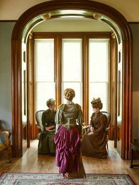 Elisabeth Ansley THREE HISTORICAL WOMEN IN HOUSE BY WINDOWS
