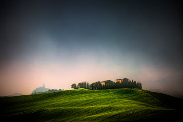 Evelina Kremsdorf ITALIAN LANDSCAPE WITH VILLA AND TREES