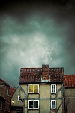 Miguel Sobreira MALL TUDOR HOUSE WITH STORMY SKY