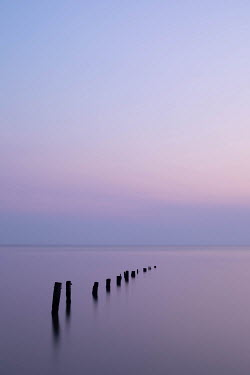 Michael Nelson POSTS IN CALM SEA AT DUSK