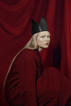 Natasha Yankelevich SERIOUS YOUNG BLONDE GIRL WITH CROWN