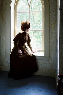 Elisabeth Ansley HISTORICAL WOMAN SITTING IN WINDOW