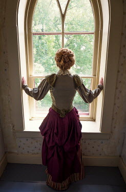 Elisabeth Ansley HISTORICAL WOMAN STANDING BY WINDOW