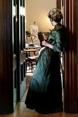Elisabeth Ansley BLONDE HISTORICAL WOMAN LEANING IN DOORWAY