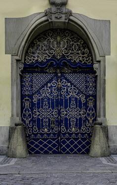 Jaroslaw Blaminsky EXTERIOR OF ORNATE BLUE DOORWAY