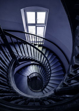 Jaroslaw Blaminsky SPIRAL STAIRCASE WITH WINDOW FROM ABOVE