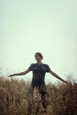 Magdalena Russocka teenage girl standing in field