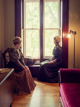 Elisabeth Ansley TWO HISTORICAL WOMEN SITTING BY WINDOW