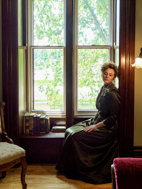 Elisabeth Ansley DAYDREAMING HISTORICAL WOMAN SITTING BY WINDOW