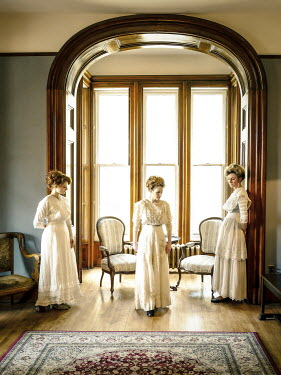 Elisabeth Ansley THREE HISTORICAL WOMEN STANDING IN HOUSE