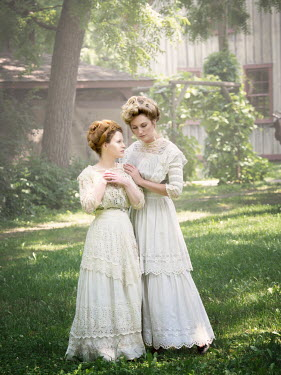 Elisabeth Ansley TWO CLOSE HISTORICAL WOMEN IN GARDEN